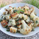 cauliflower halloumi salad