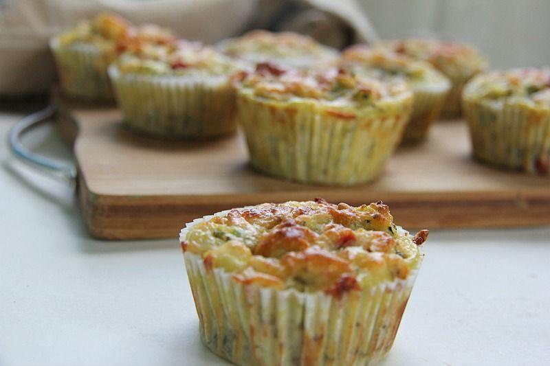 zucchini pizza muffins