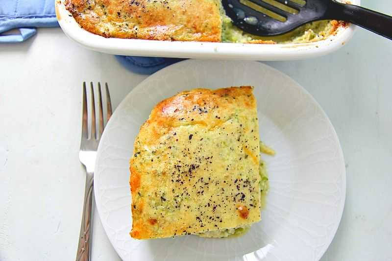 Broccoli Cauliflower Breakfast Casserole