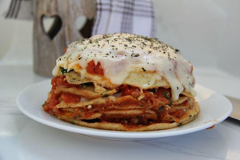 Spinach Crepe Lasagna