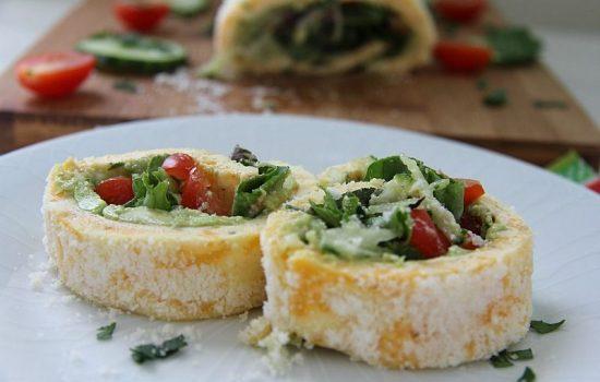 Keto Avocado Salad Roulade