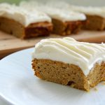 pumpkin bars with cream cheese topping