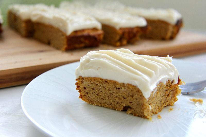 Gluten Free Pumpkin Cake Cream Cheese Frosting