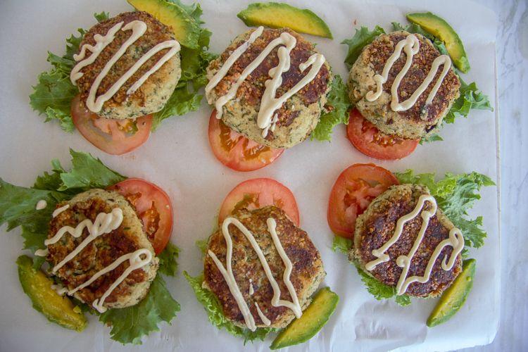 cauliflower falafel burgers