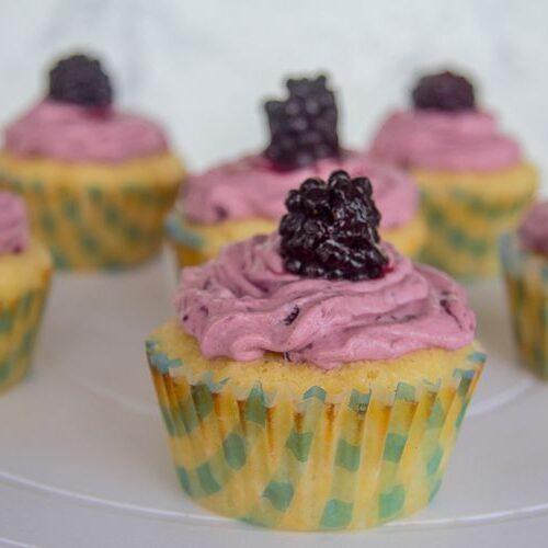 lemon blackberry cupcake