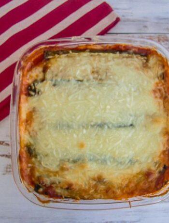 no noodle zucchini lasagna
