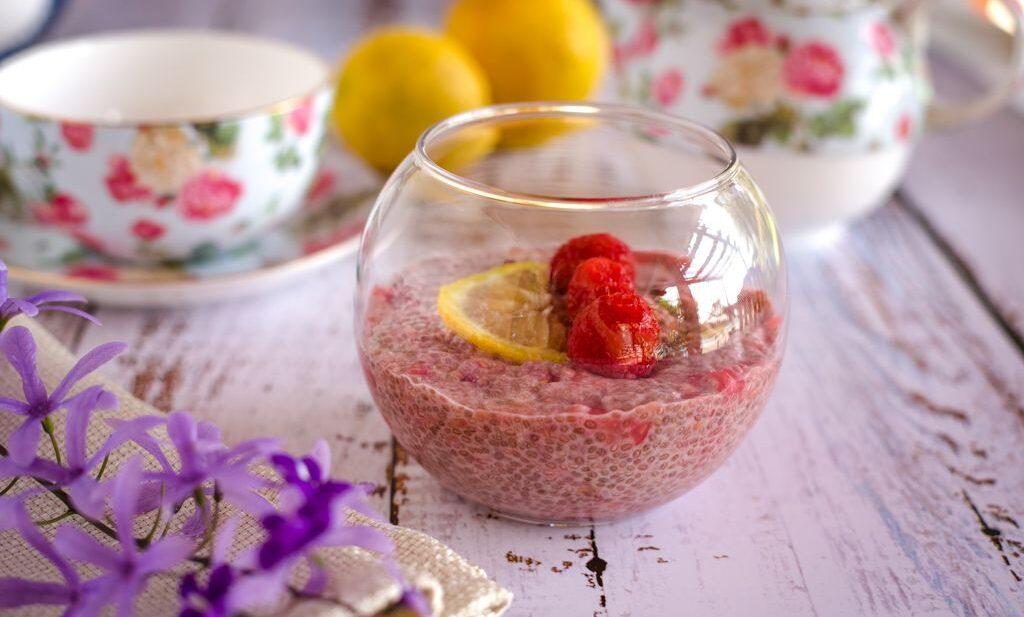 raspberry lemon chia pudding