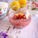 lemon raspberry chia pudding