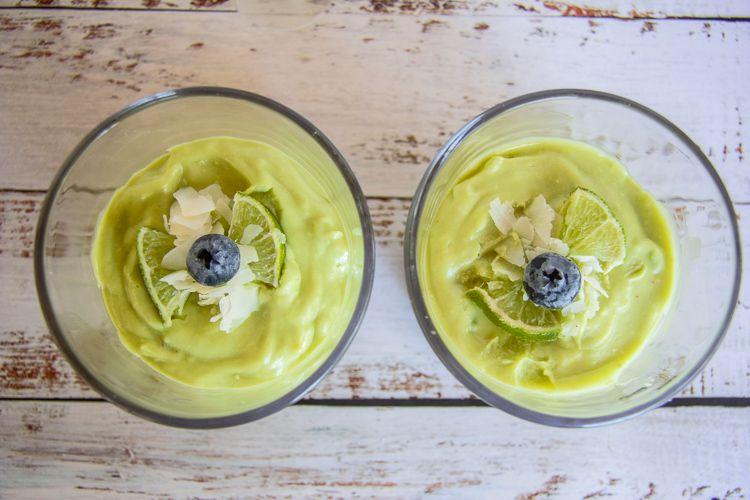 avocado key lime pie in a jar