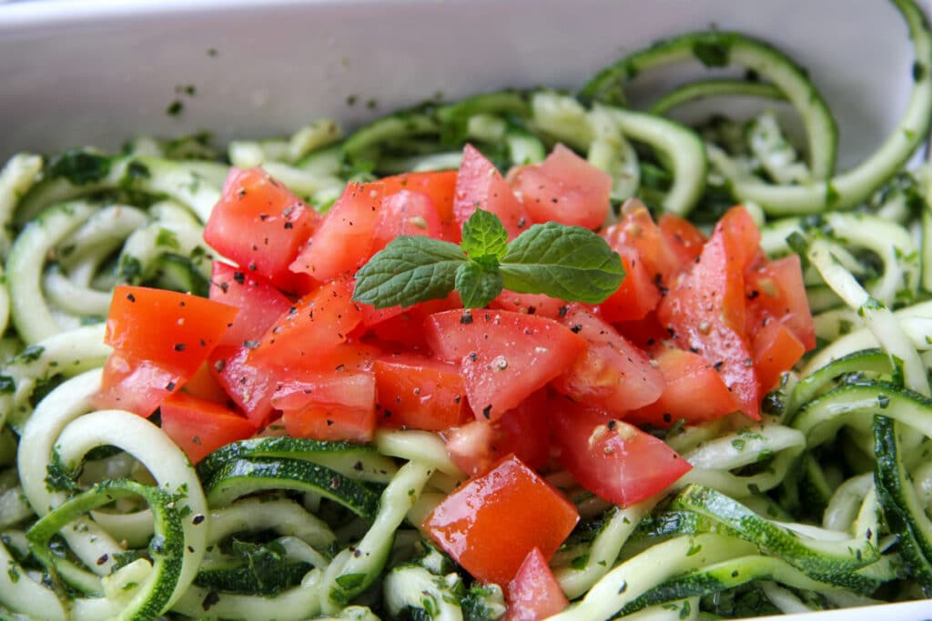 zucchini minted spirals