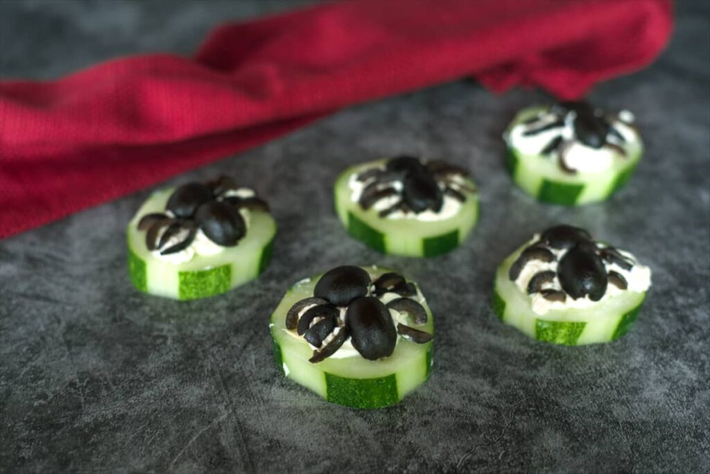 cucumber spider snacks