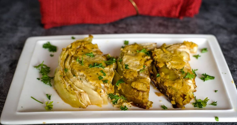 vegan cabbage gratin