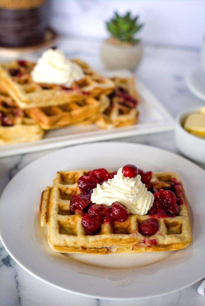 cranberry waffles
