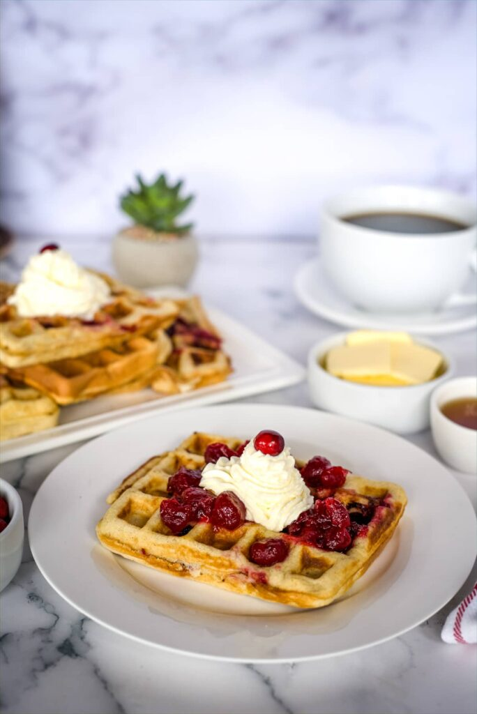 low carb waffles with cranberries