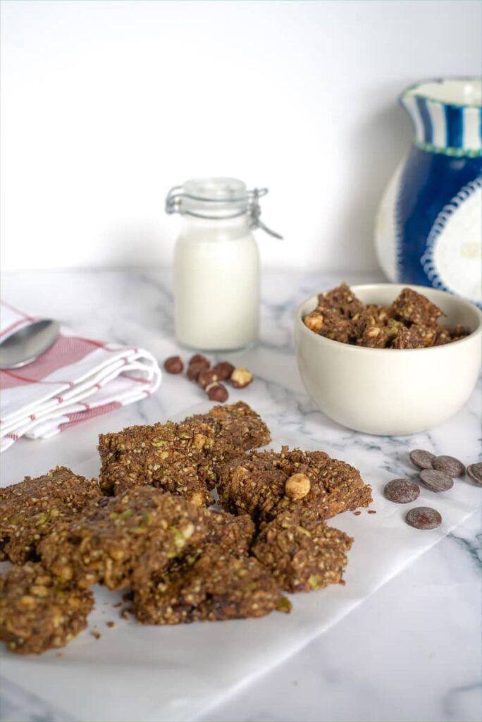 chocolate hazelnut granola
