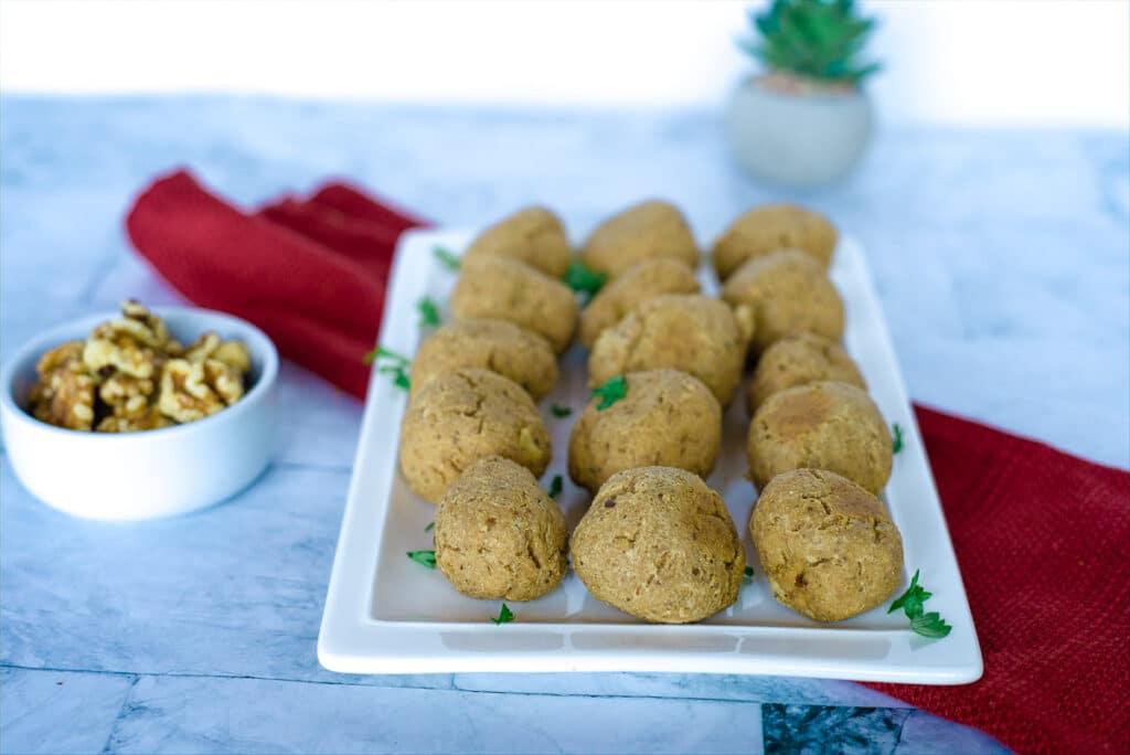 tofu balls with walnuts