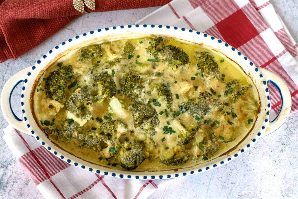 broccoli cheese gratin
