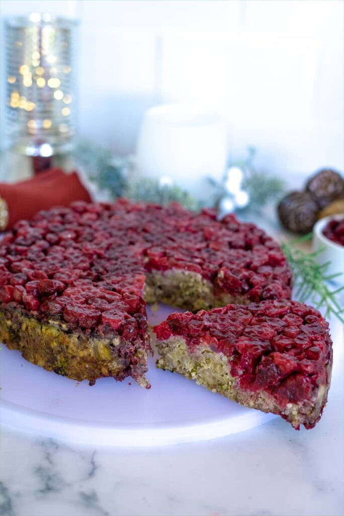brazil nut roast with cranberry topping