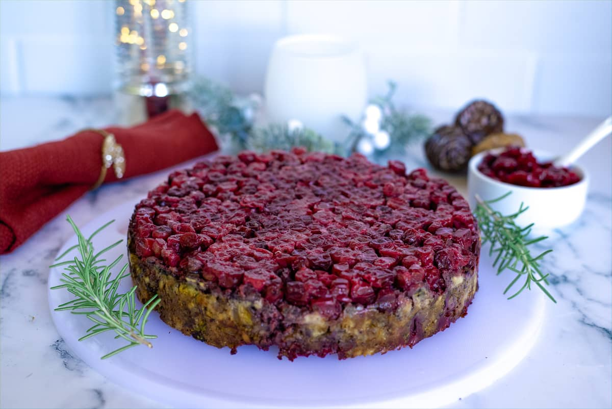 nut roast with cranberries