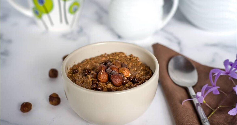 chocolate hazelnut oatmeal