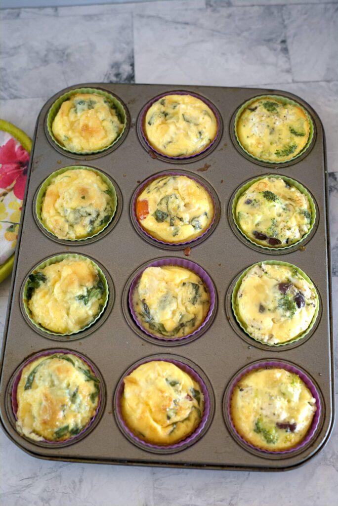 egg muffins in a baking tin