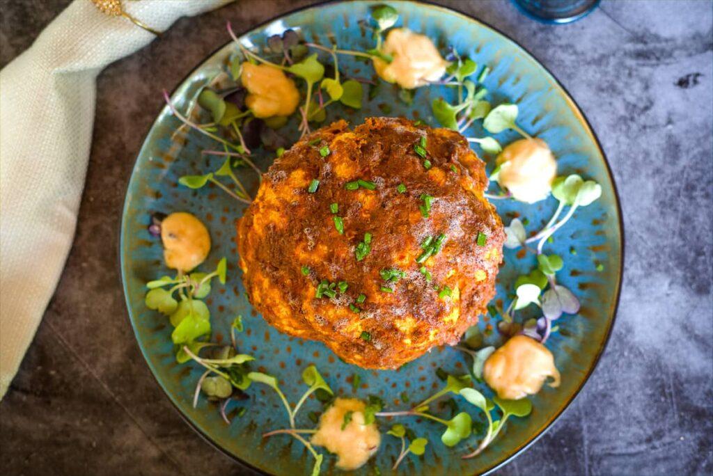 cauliflower roasted with harissa