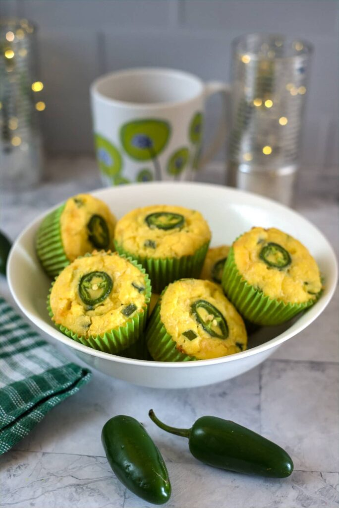 lupin flour muffins with jalapenos