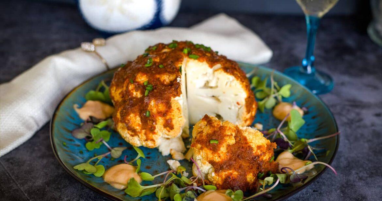 harissa roasted cauliflower