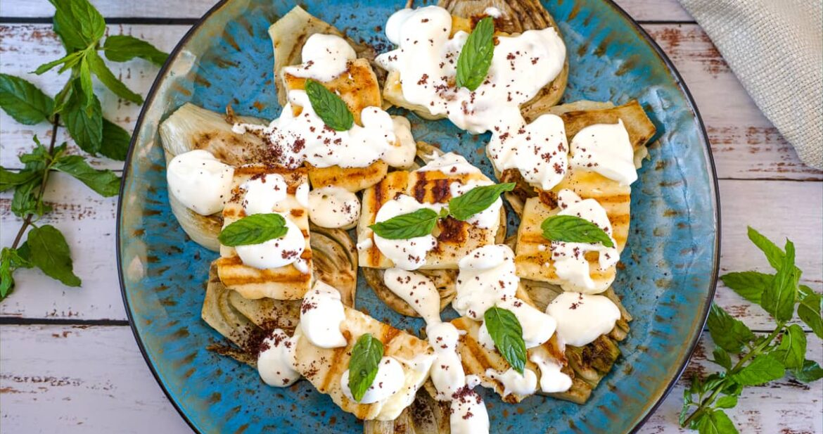 grilled fennel halloumi