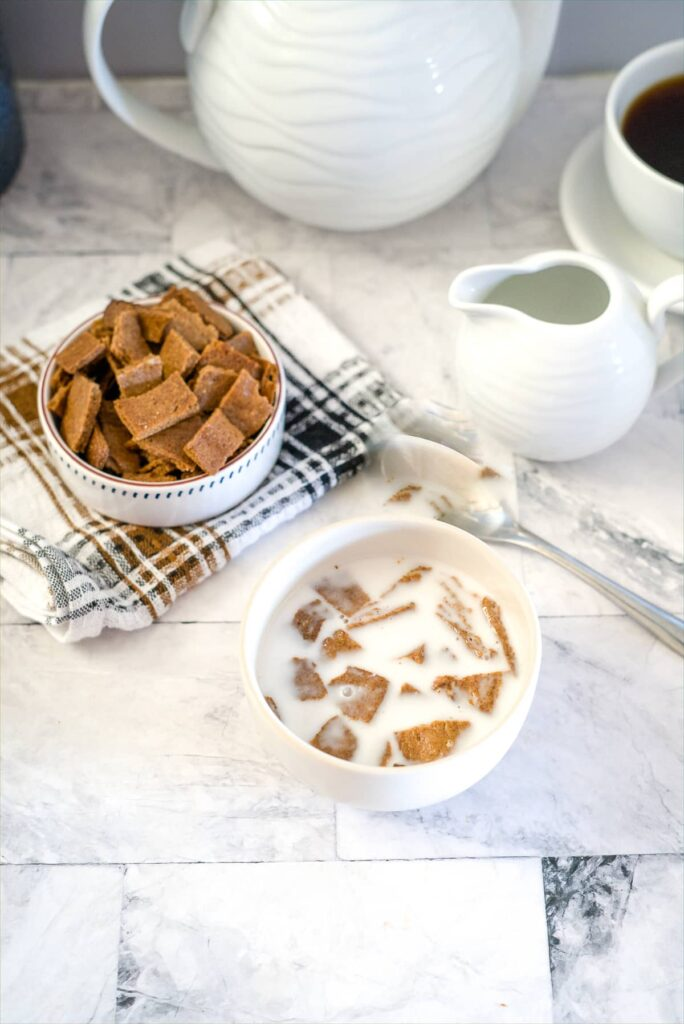 almond butter cereal with milk