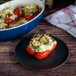 spinach stuffed pepper