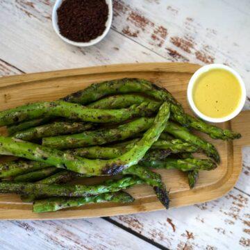 sumac grilled asparagus