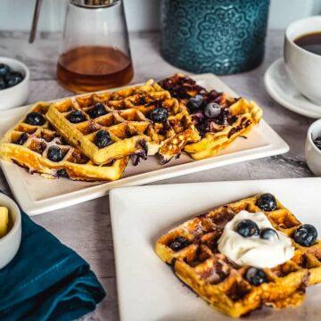 blueberry keto waffles