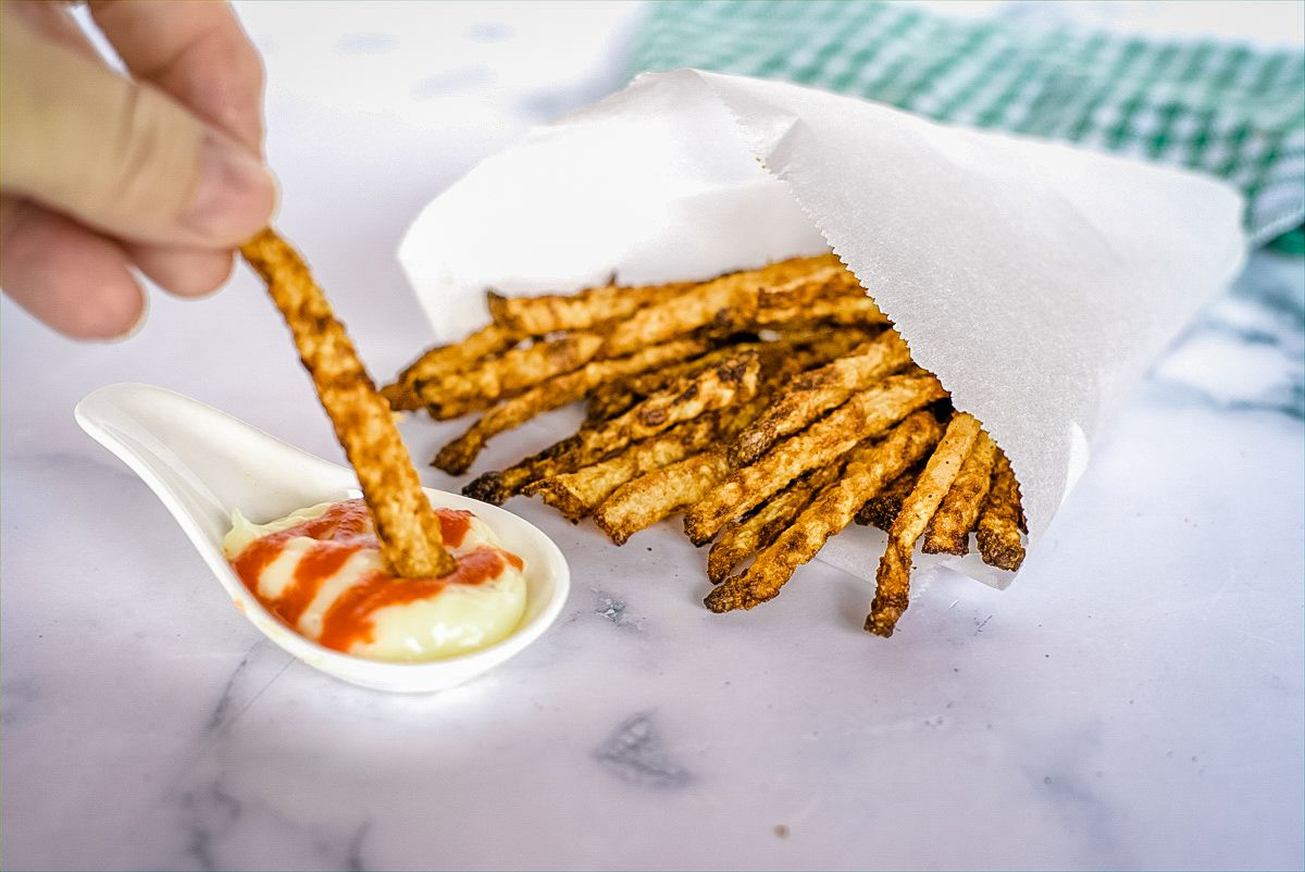 jicama fries with dip
