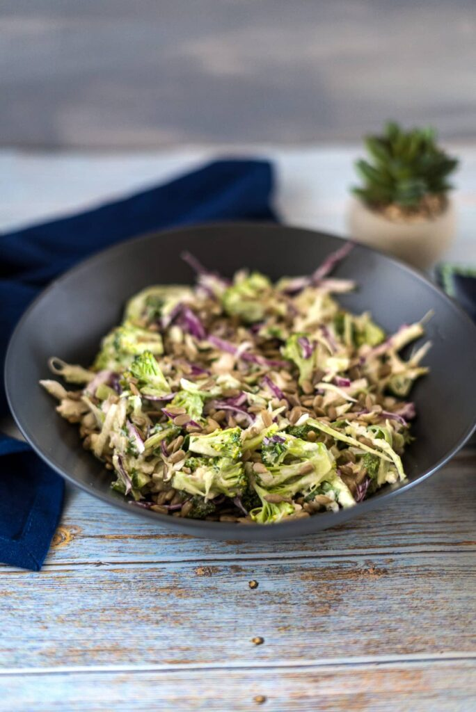 broccoli slaw in a bowl