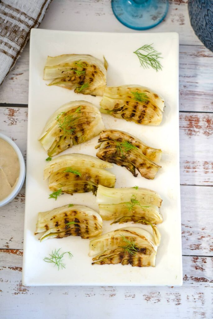 grilled fennel wedges