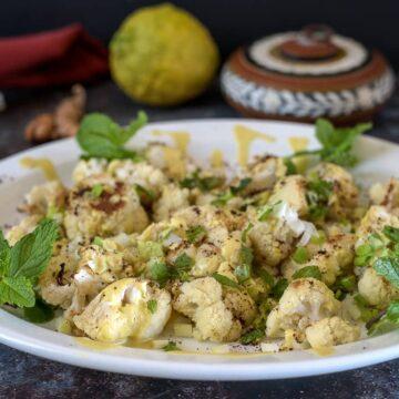 cauliflower salad with mint