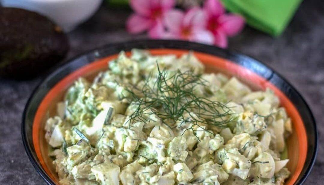 avocado egg salad in a bowl