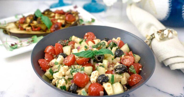 mediterranean tomato cucumber salad