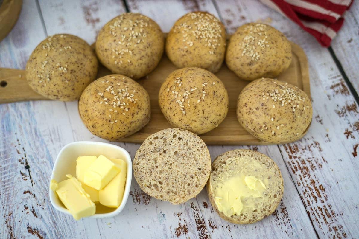 nut free bread rolls