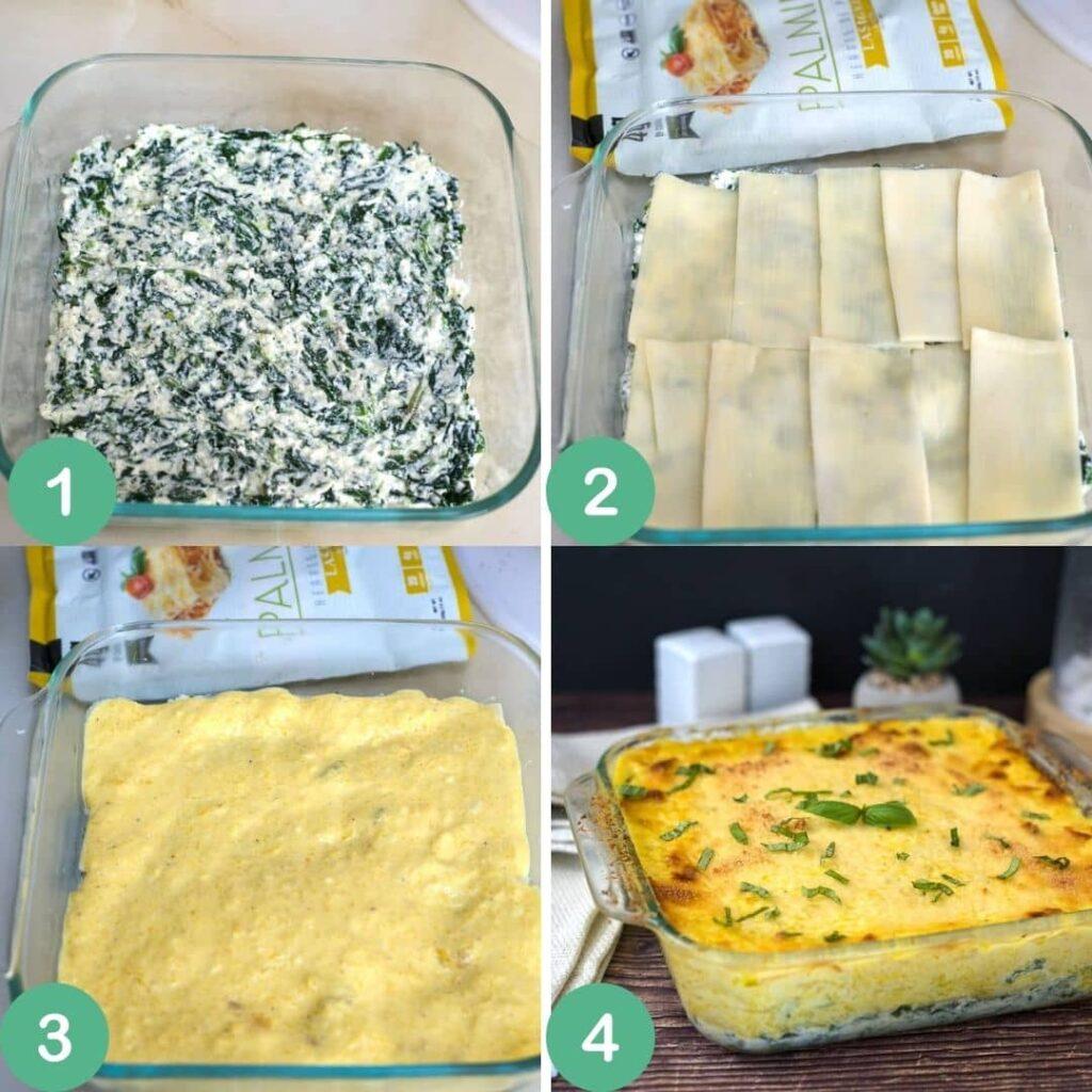 pumpkin lasagna process